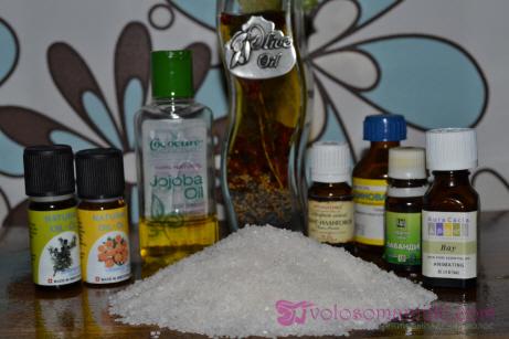 Пилинг кожи головы солью