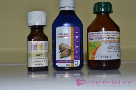 Ингредиенты маски для волос с маслом Бей