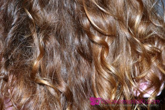 Волосы после маски для блеска волос