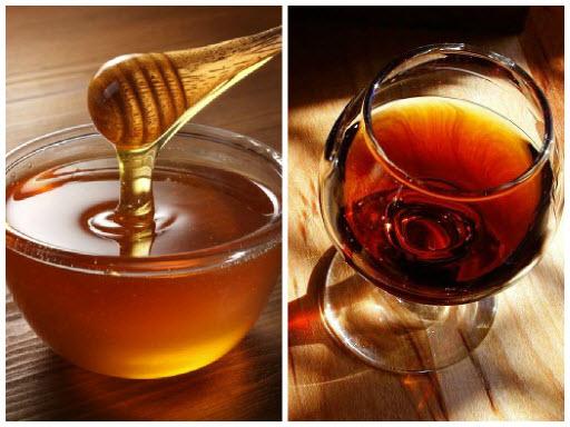 Маски с медом и коньяком