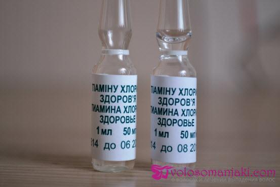 Витамины В6 и В12 в ампулах для волос