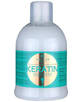 Восстанавливающий шампунь с кератином и молочным протеином Kallos Keratin Shampoo