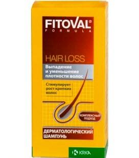 Дерматологический шампунь против выпадения волос от KRKA Fitoval