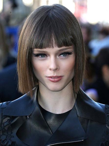 Челка на короткие волосы