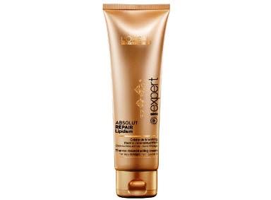 Термозащитный крем для восстановления поврежденных волос LOreal Professionnel Absolut Repair Lipidium Reconstructing and protecting blow-dry cream