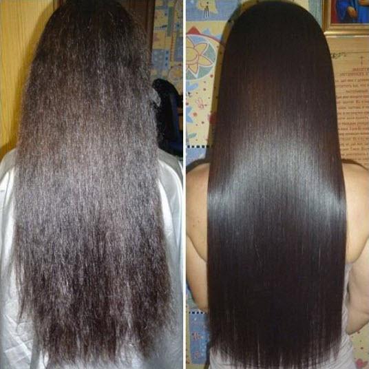 Фото: Кератинирование волос
