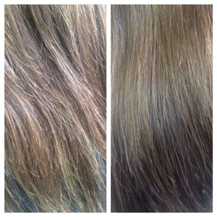 Полировка сухих кончиков волос