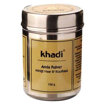 """Травяной порошок """"Амла"""" органический кондиционер для блеска и объема волос Khadi Amla Pulver"""