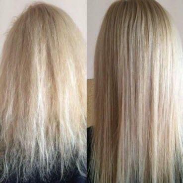 Как снять сухие кончики волос