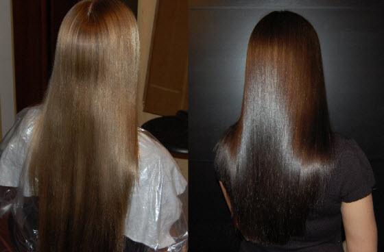 Элюминирование волос в салоне