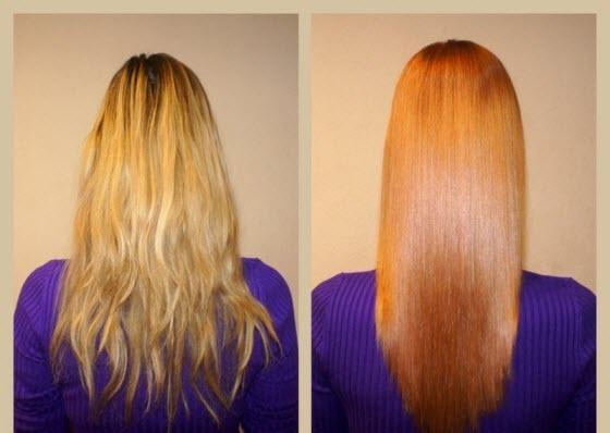 Фото: элюминирование волос