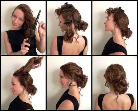 Прическа на средние волосы своими руками мастер класс