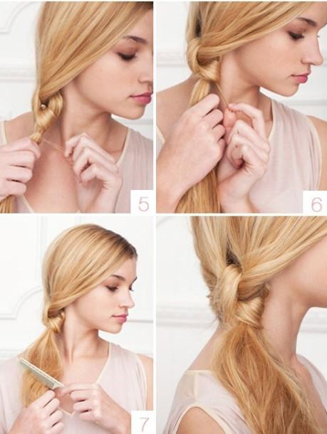 Низкий хвост: прическа на волосы средней длины