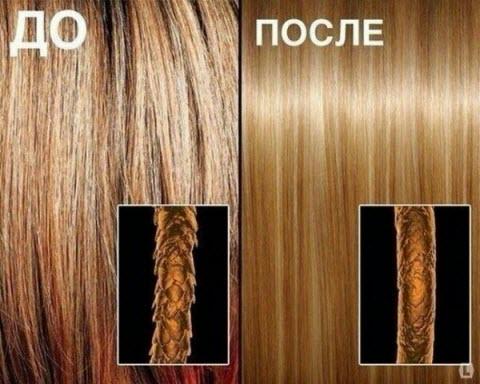 Фото: Экранирование волос