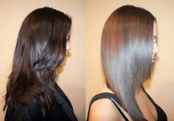 Результат биоламинирования волос