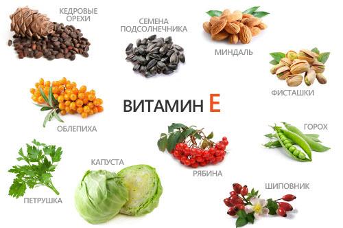 Витамин А и Е для здоровья волос