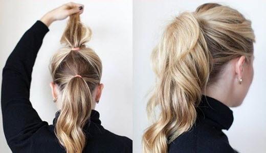 хвост на волосы средней длины