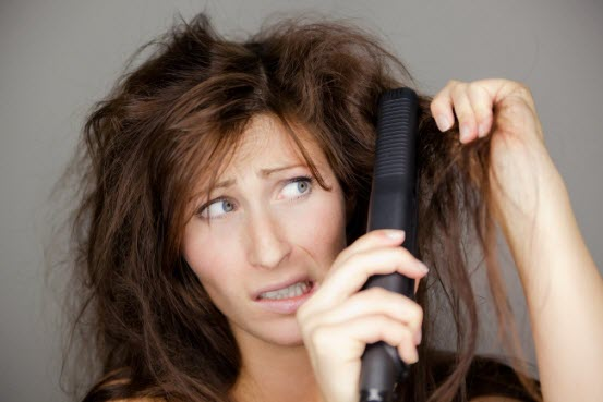 Сухие и поврежденные волосы