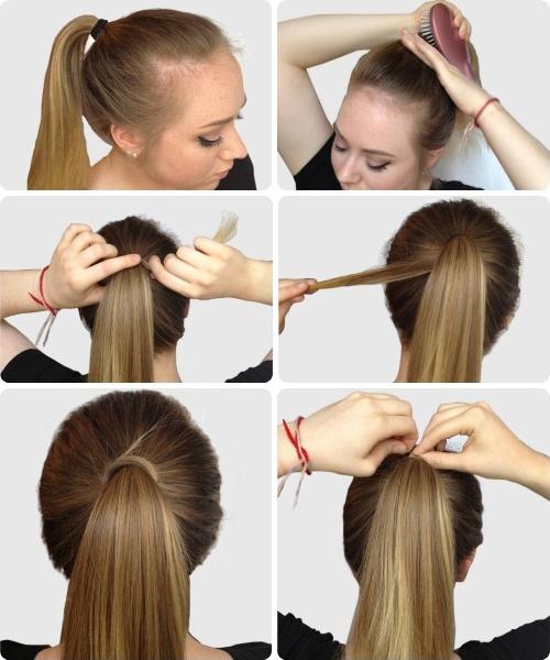 Прически с хвостом на средние волосы своими руками