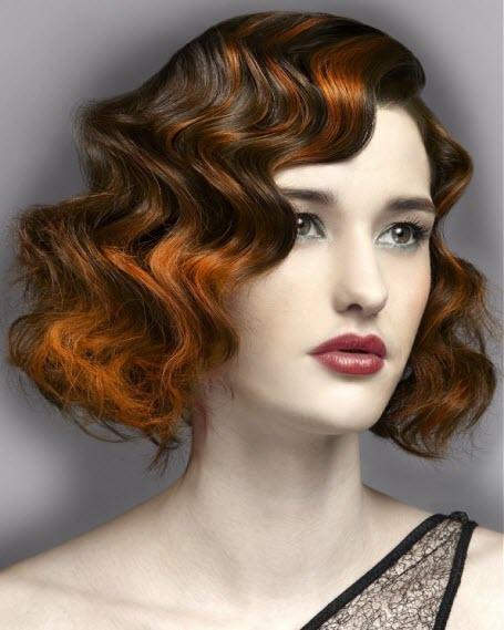 Прически на короткие волосы в стиле ретро
