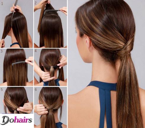 Простые прически на длинные волосы на каждый день на работу