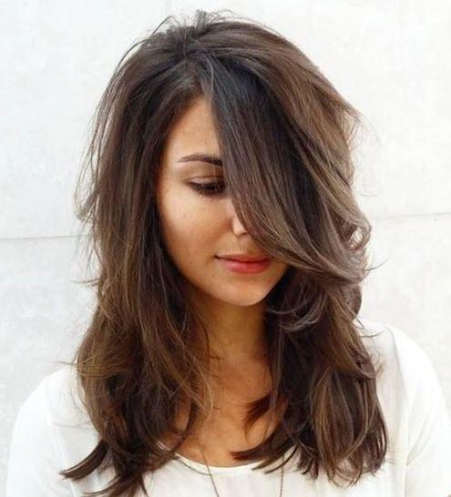 Челка на средние волосы