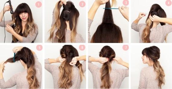 Красивые прически несложные на длинные волосы