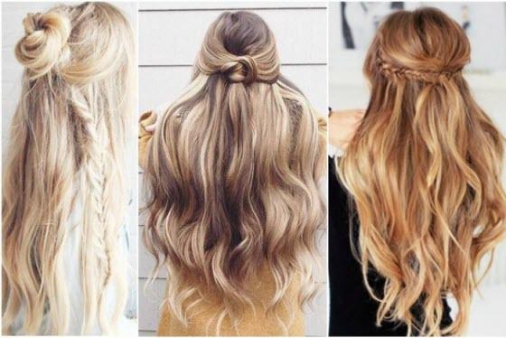 Прически на длинные и средние волосы