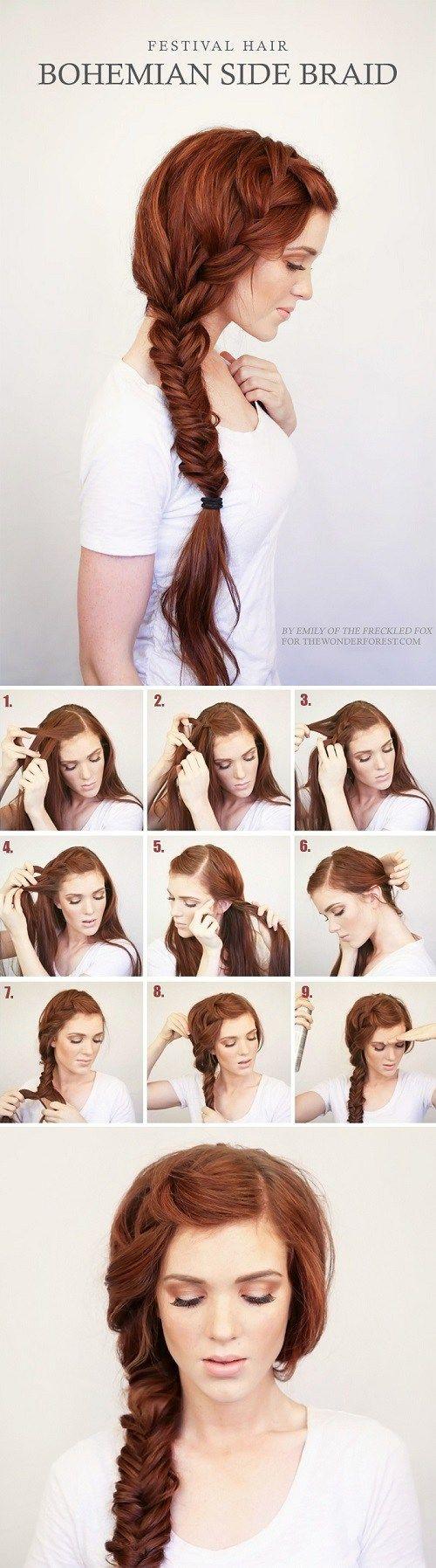 Плетение косы: фото
