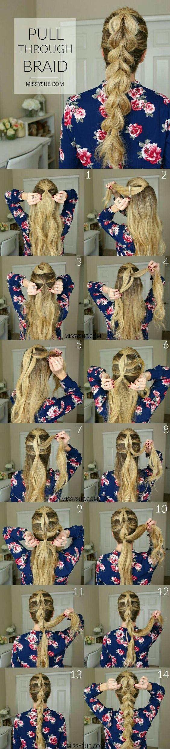 Плетение косы на длинные волосы
