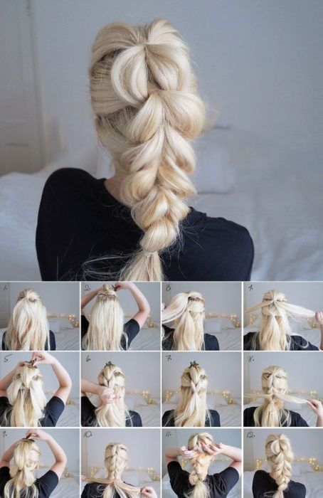 Очень красивые плетение кос на длинные волосы.
