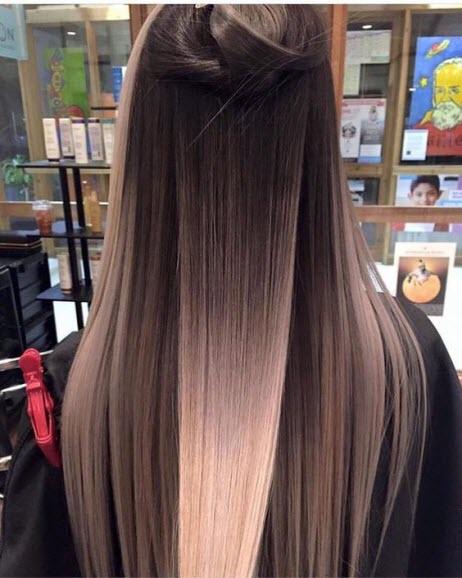 Окрашивание балаяж на темные волосы