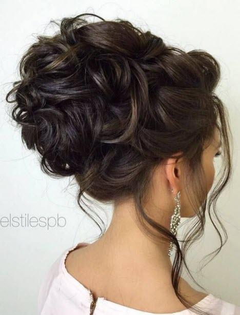 Собранная прическа на длинные волосы без челки7