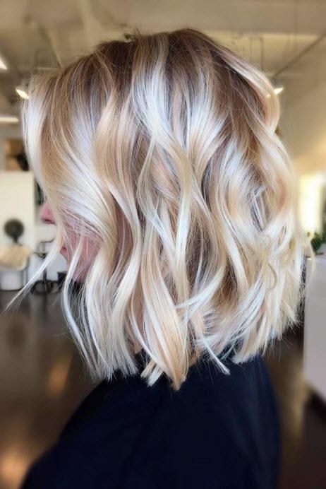 Окрашивание балаяж на светлые волосы