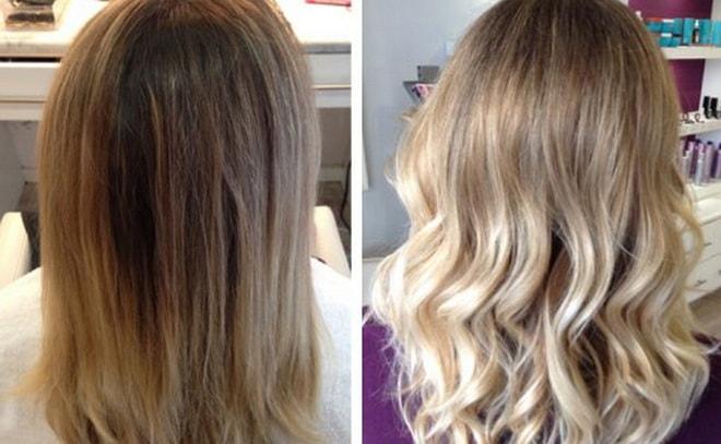 Окрашивание балаяж: фото до и после