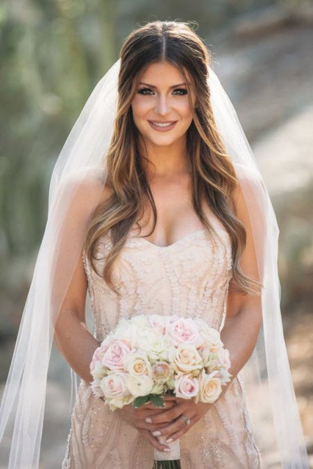 Свадебные прически под фату