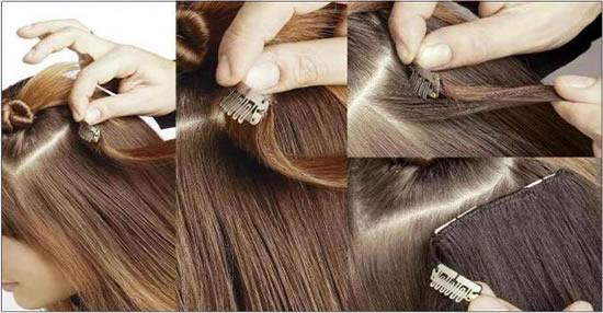 Накладка с волосами