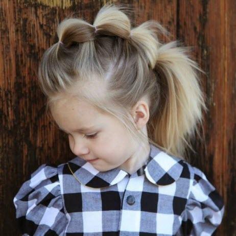 Интересные прически для девочек: фото