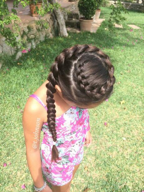 Прически для девочек на основе косы