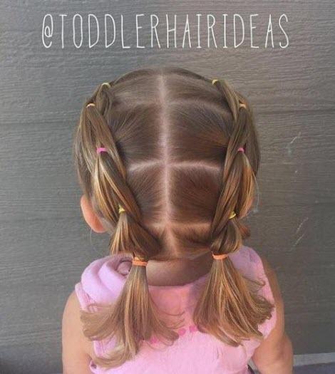 Прическа в школу на короткие волосы
