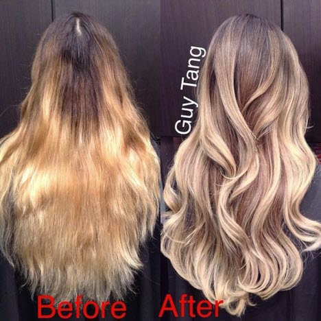 Брондирование волос: фото до и после