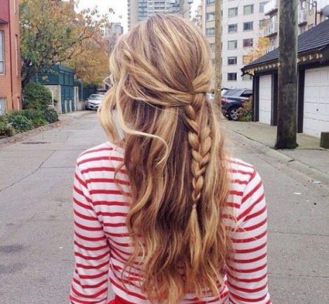 Прическа на длинные волосы на каждый день