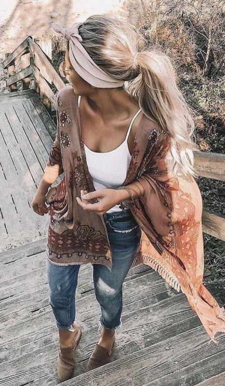 Как завязать красиво платок на длинные волосы
