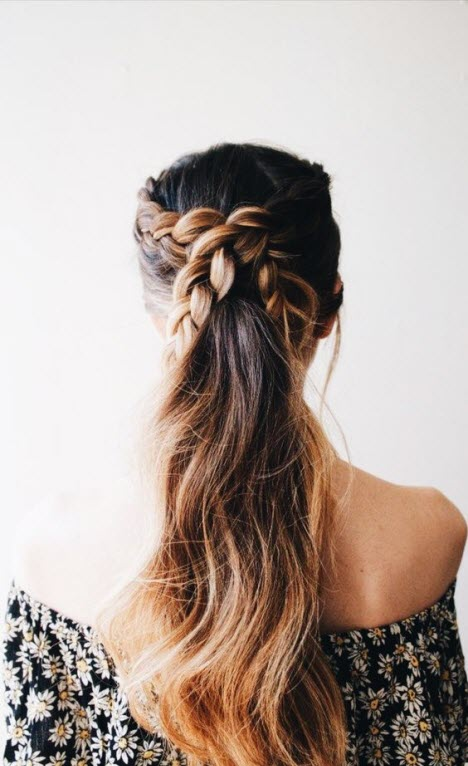 Плетение на длинные волосы