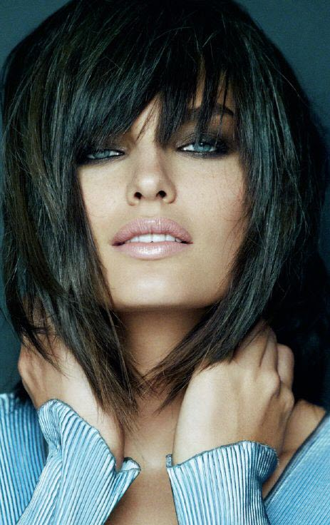 Фото волос с челкой