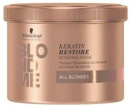 """Маска-бондинг для волос """"Кератиновое восстановление"""" для всех оттенков блонд Schwarzkopf Professional Blondme Keratin Restore Bonding Mask"""