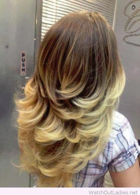 Стрижка лесенка на длинные волосы