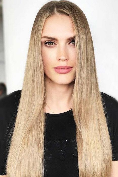 Фото стрижек на длинные волосы без челки