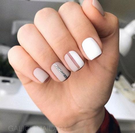 Белый маникюр на короткие ногти