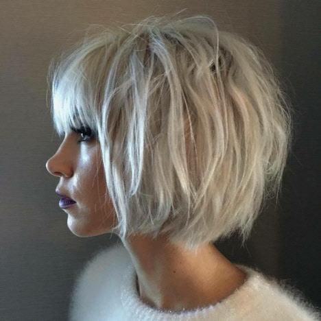 Стрижки с челкой на короткие волосы
